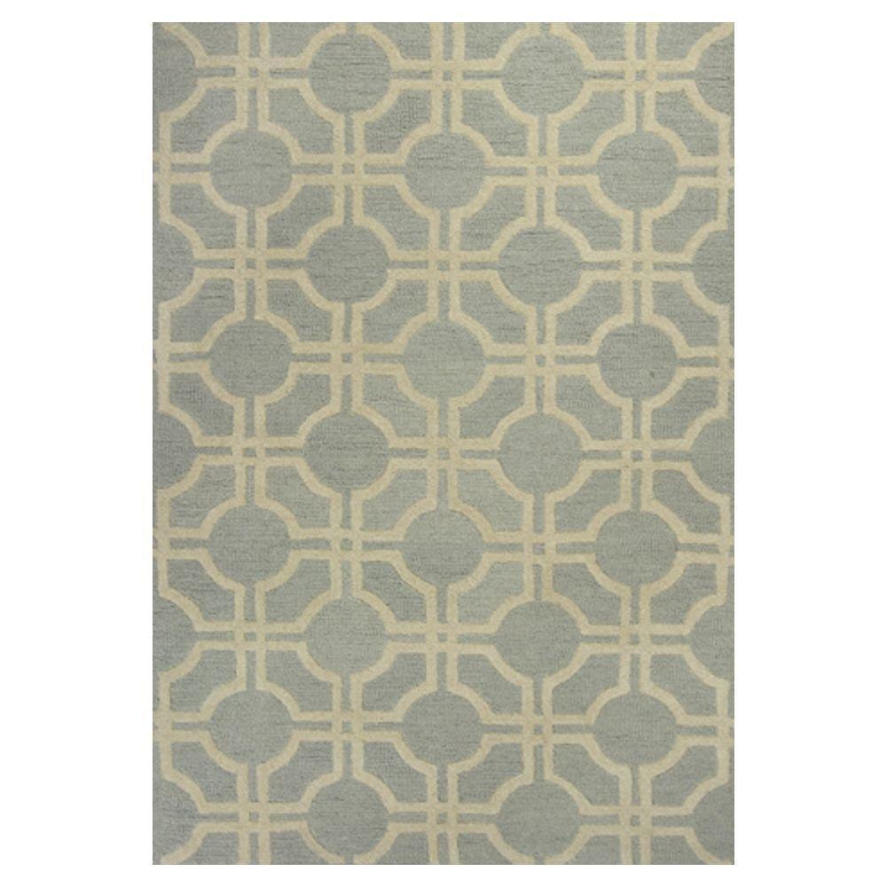 Kas Rugs Simply Geometric Grey/Beige 5 ft. x 7 ft. 6 in. Area Rug