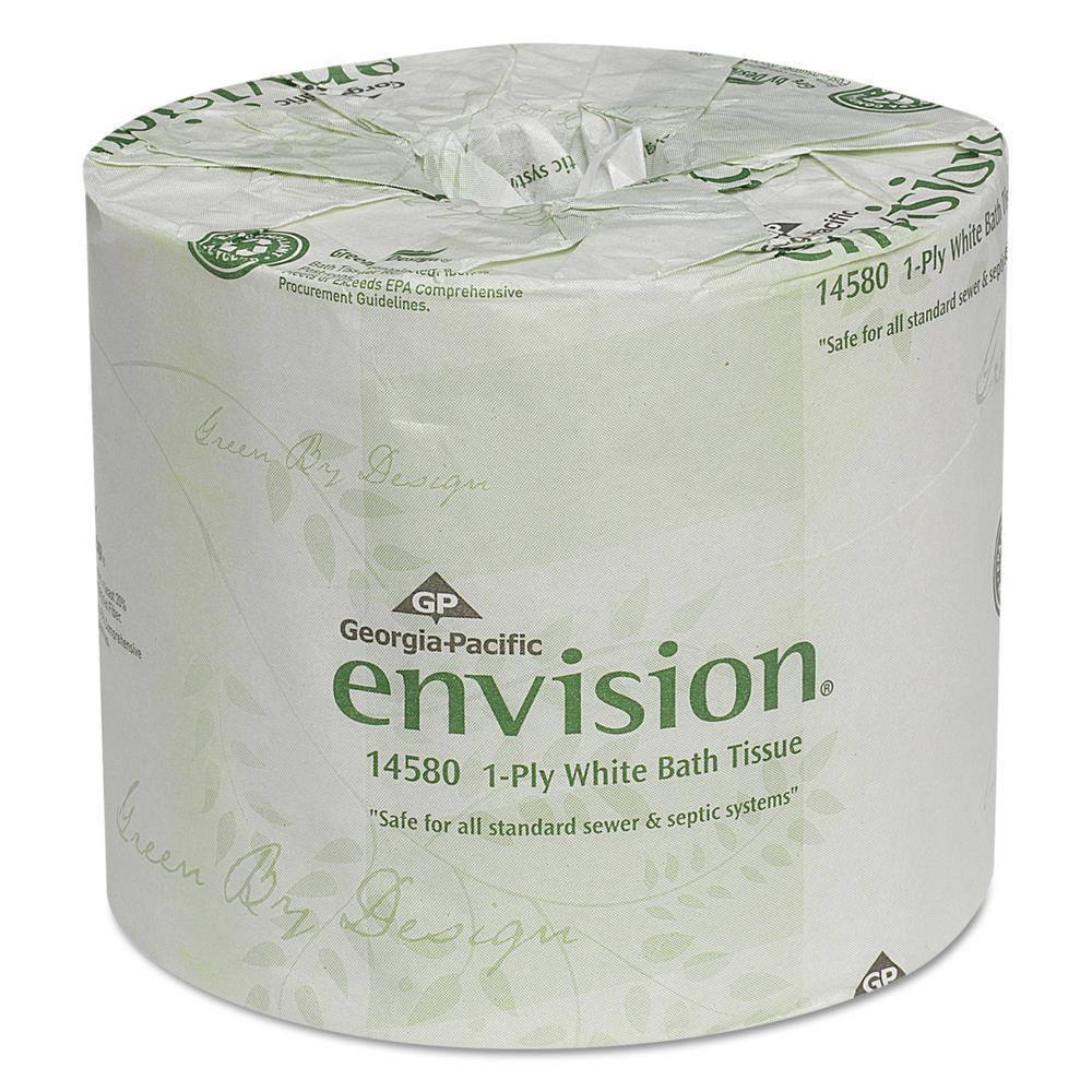 Georgia Pacific Envision White 1 Ply Bathroom Tissue 80
