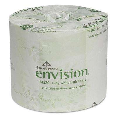 Envision White 1-Ply Bathroom Tissue (80-Rolls)