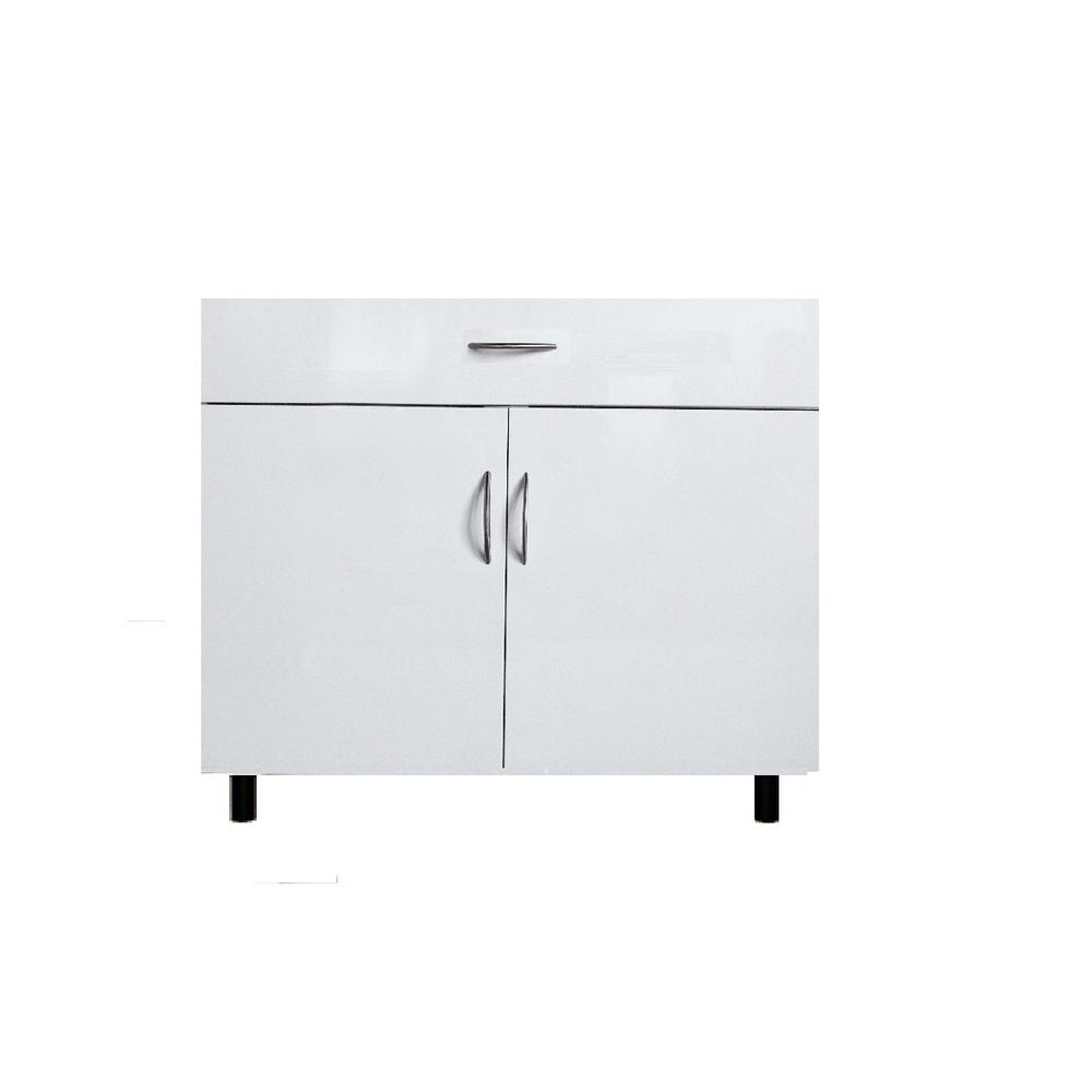 Garrido Bros And Co San Juan Series Assembled 36x34 5x24 In Sink Base Cabinet Made Of High Density Pvc In White Color Ga Sb36c White The Home Depot