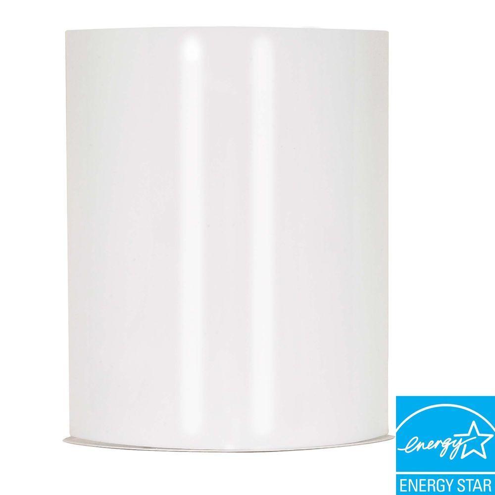 1-Light White Sconce
