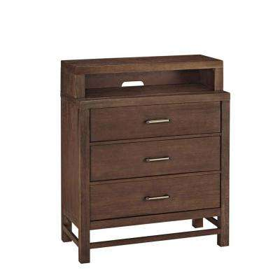 Barnside 3-Drawer Mahogany Brown Chest
