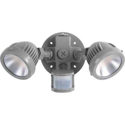 13-Watt Metallic Gray Outdoor Integrated LED Flood Light