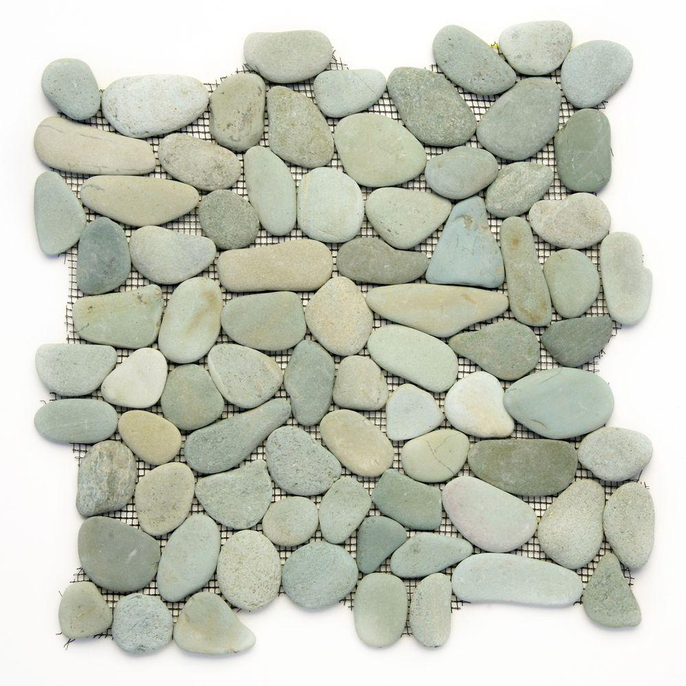 This review is from:River Rock Turquoise 12 in. x 12 in. x 12.7 mm Natural  Stone Pebble Mosaic Floor and Wall Tile (10 sq. ft. / case)