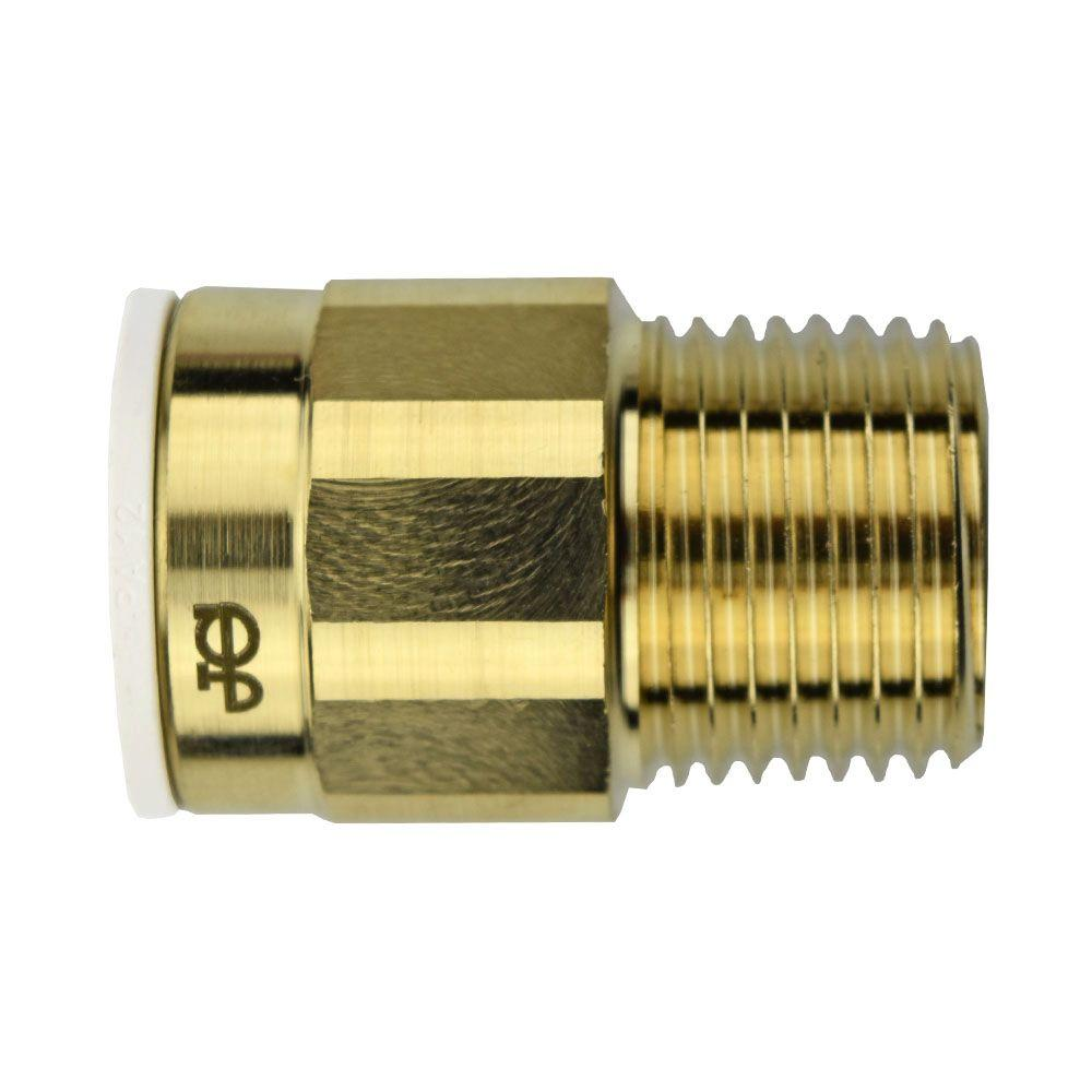 1/2 in. x 1/2 in. Brass Push-to-Connect Male Connector Contractor Pack