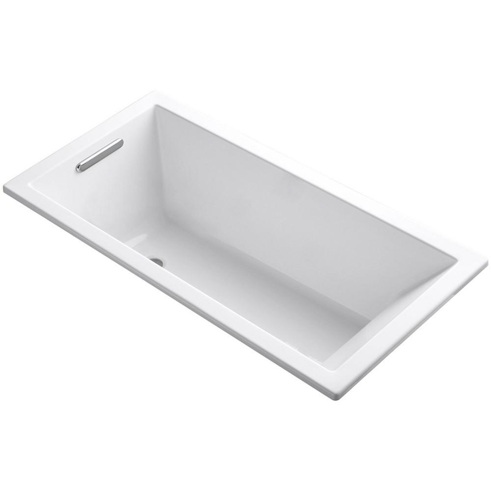 Teddy Drop-in 59 in. x 31.5 in. Acrylic Flatbottom Bathtub in White (No Drain)