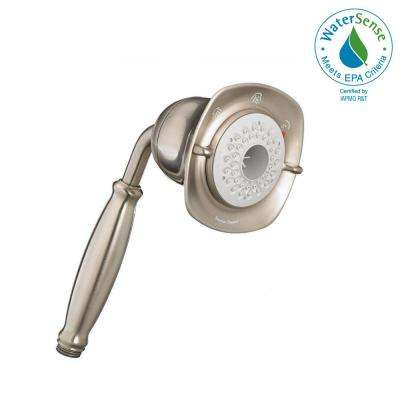 FloWise Square Water-Saving 3-Spray Hand Shower in Brushed Nickel