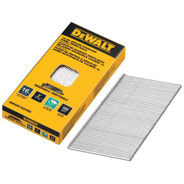 2 in. x 16-Gauge Stainless Steel Glue Collated Finish Nail