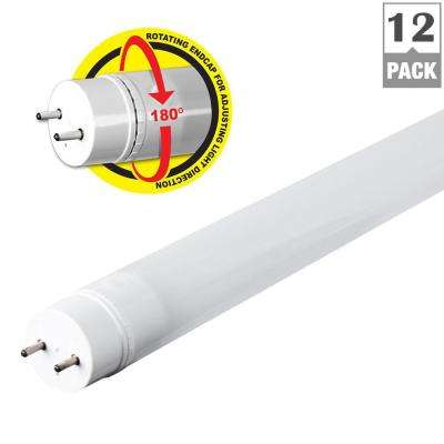 4 ft. T8/T12 17W Equivalent Warm White (3000K) Linear LED Tube Light Bulb (Case of 12)