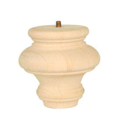 WAD 2781 4 in. x 4 in. x 4 in. Basswood Turned Bun Moulding