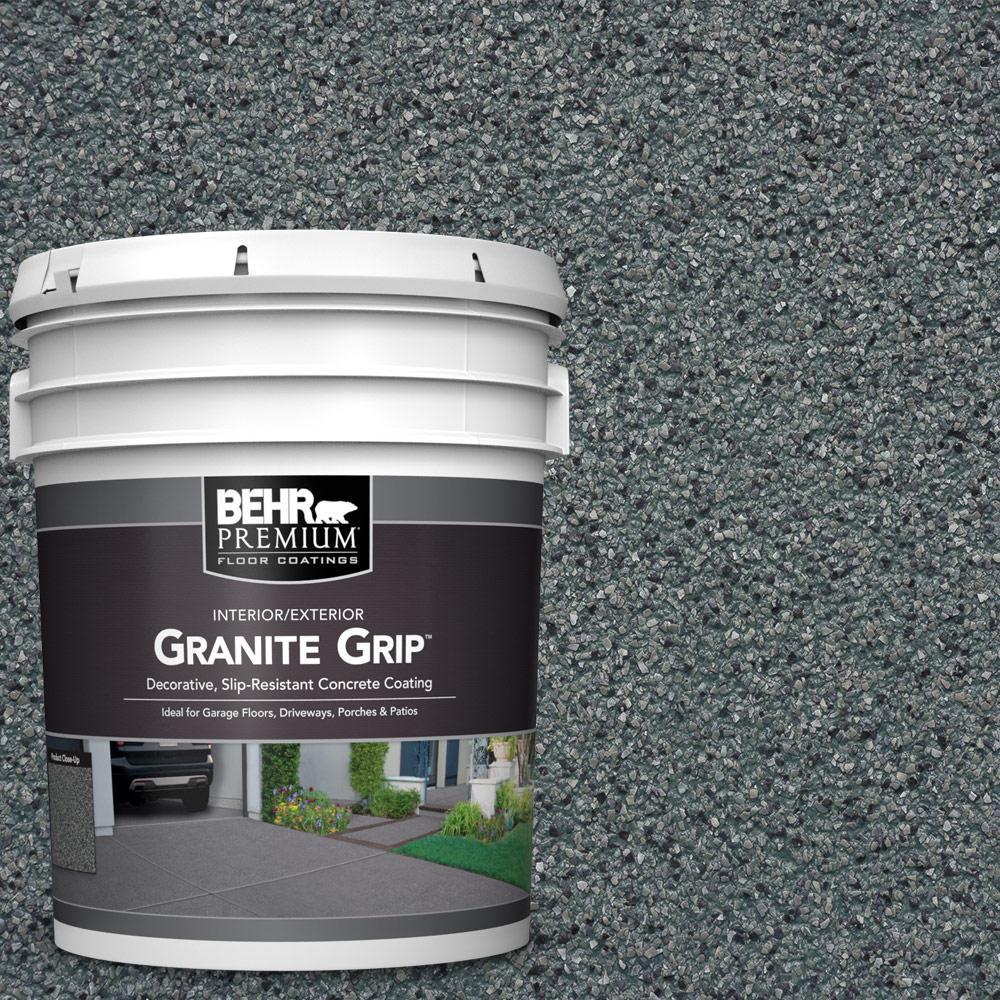 BEHR Premium 5 gal. #GG-01 Slate Ivory Decorative Concret...