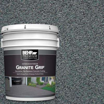 5 gal. #GG-01 Slate Ivory Decorative Flat Interior/Exterior Concrete Floor Coating
