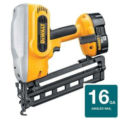 18-Volt XRP NiCd Cordless 16-Gauge 20 Degree Angled Nailer with Battery 2.4Ah, 1-Hour Charger and Case