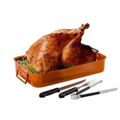 5.5 Qt. Non-Stick Roasting Pan With Carving Set