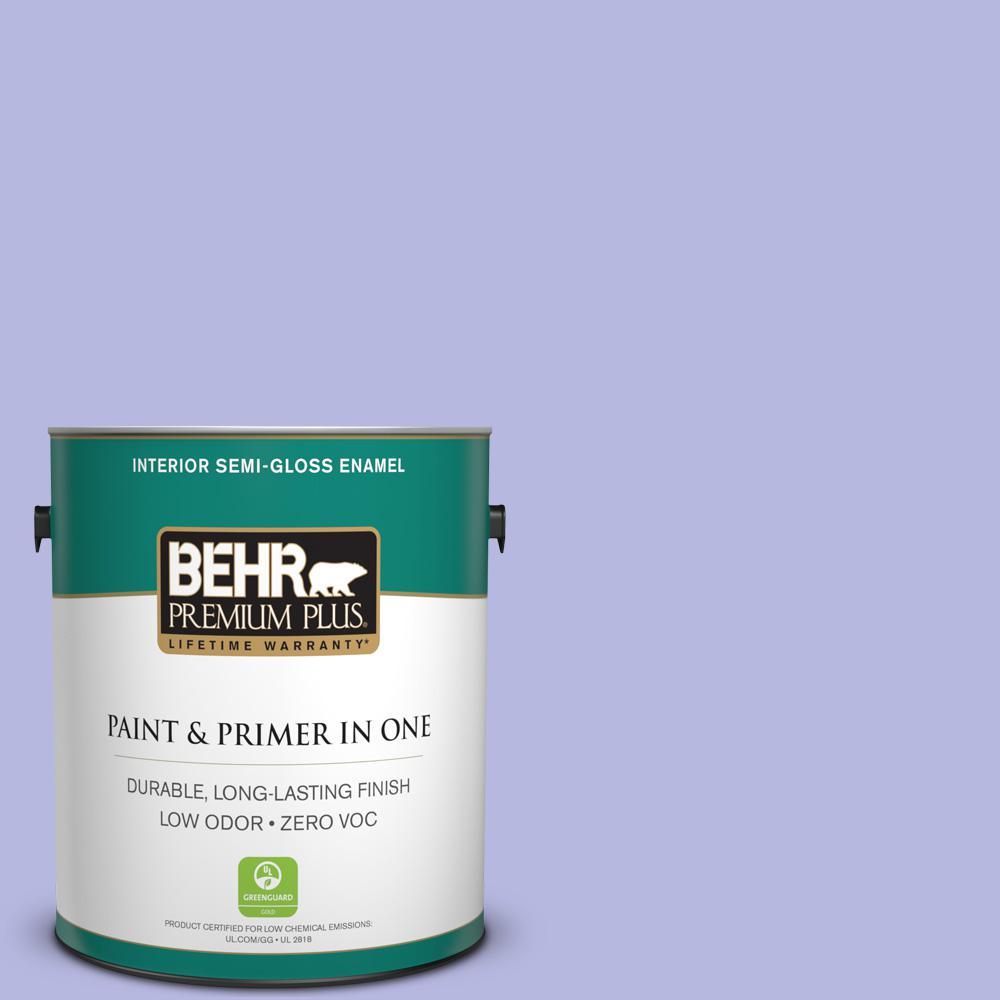 BEHR Premium Plus 1-gal. #P550-3 Lavender Cloud Semi-Gloss Enamel Interior Paint