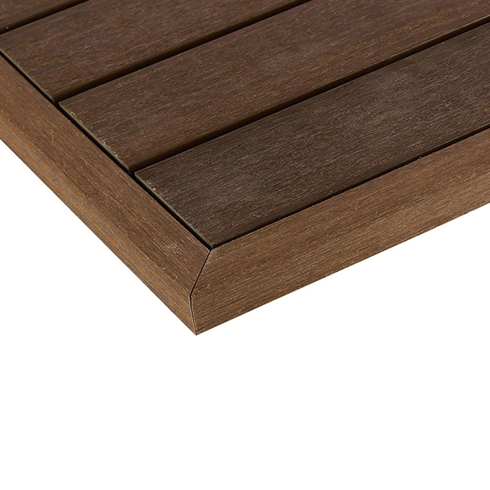 This Review Is From 1 6 Ft X 13 95 In Quick Deck Composite Tile Outside End Corner Fascia Brazilian Ipe 2 Pieces Box