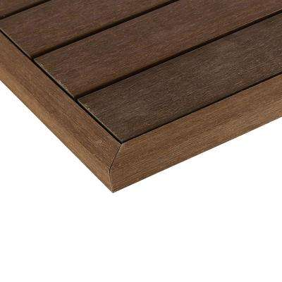1/6 ft. x 13.95 in. Quick Deck Composite Deck Tile Outside End Corner Fascia in Brazilian Ipe (2-Pieces/Box)