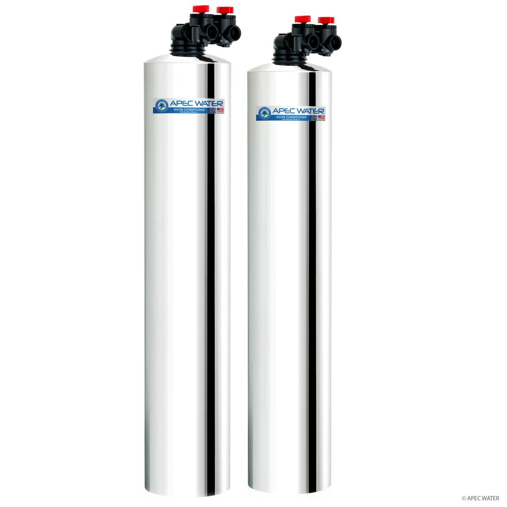 APEC Water Systems Premium 10 GPM Salt-Free Water Softener and Whole House Water Filtration System