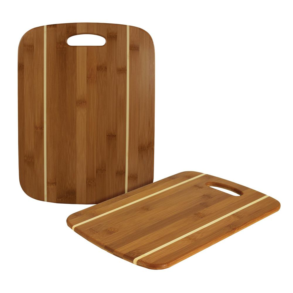Totally Bamboo 2 Piece Bamboo Cutting Board 30531396 The Home Depot