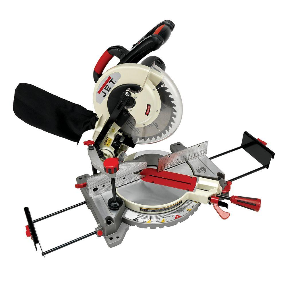 JET 10 in. Corded Compound Miter Saw with Laser 15-Amp JMS-10CMS