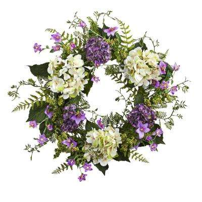 Hydrangea Berry 24 in. Wreath