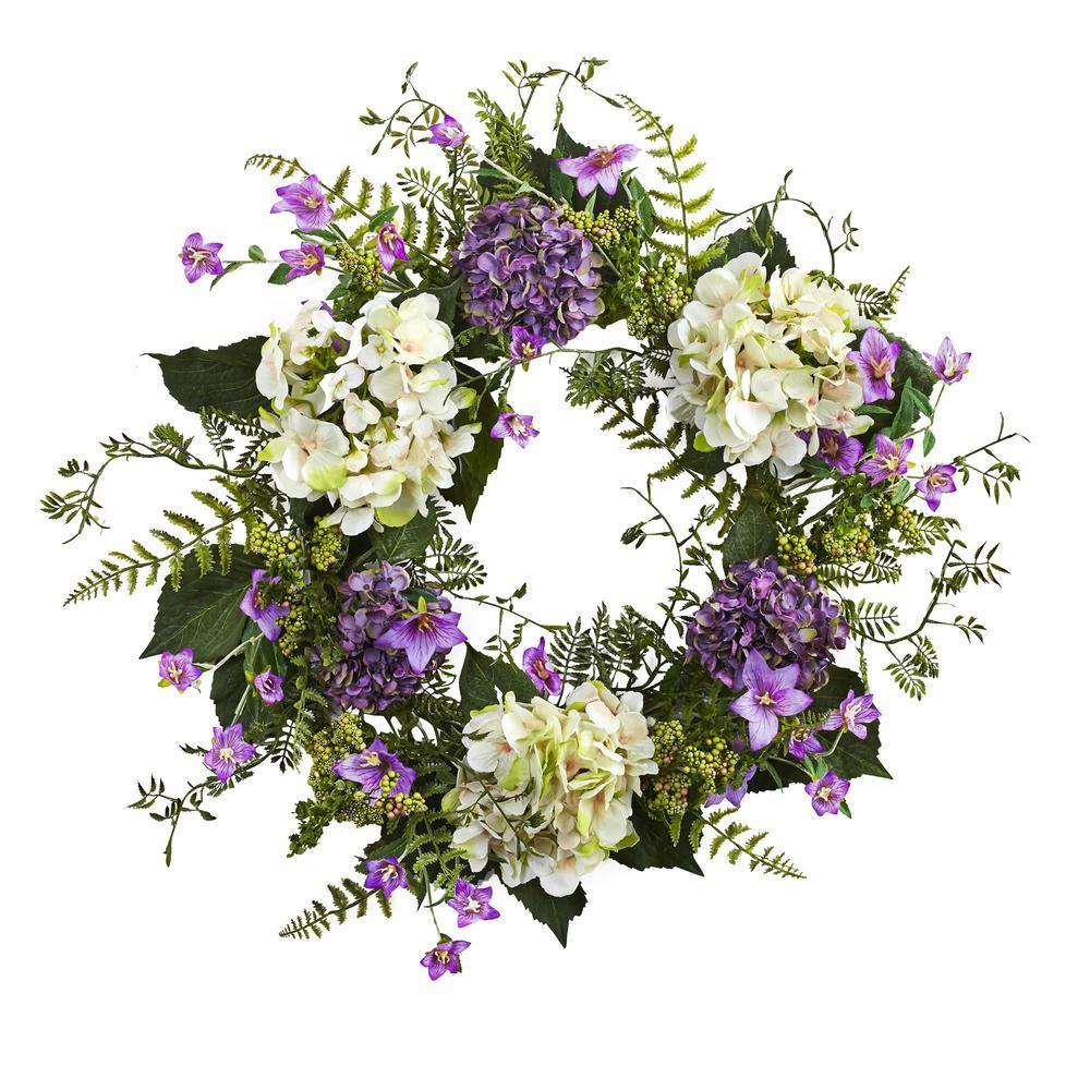 Hydrangea Berry 24 in. Wreath