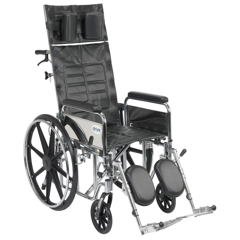 Drive Sentra Reclining Wheelchair with Detachable Full Arms