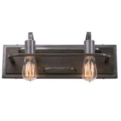 Lofty 2-Light Steel Vanity Light