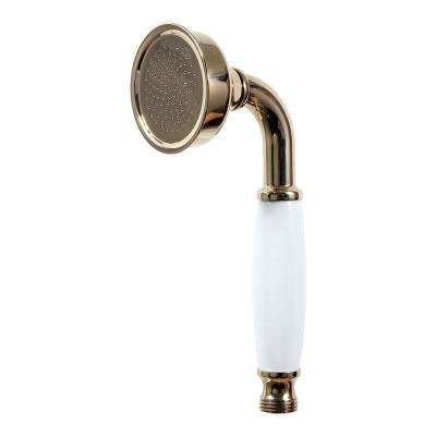 1-Spray Hand Shower with Ceramic Handle in Classic Antique Brass