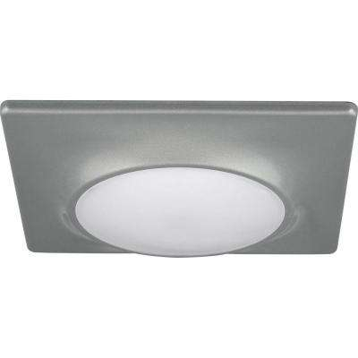 7-1/4 in. Square 1-Light Metallic Gray LED Surface and Recessed Mount Light