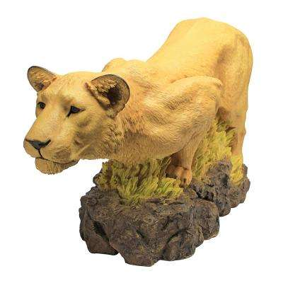 18 in. H Lioness on the Prowl Statue