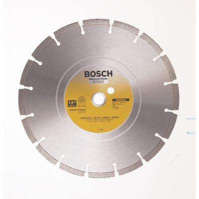 12 in. General Purpose Premium Circular Saw Blade for Concrete, Block, Brick, Stone, and Steel