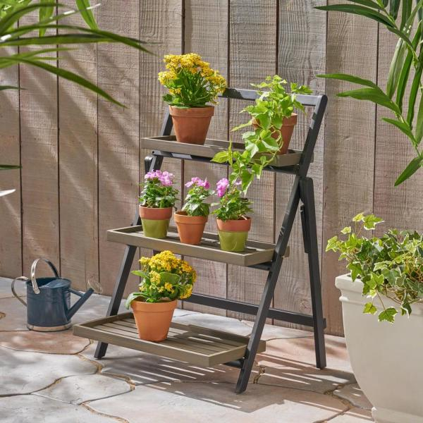 Merin 26 75 In Grey Plant Stand