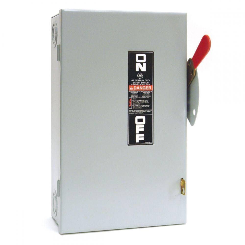 Ge 100 Amp 240 Volt Fusible Indoor General Duty Safety