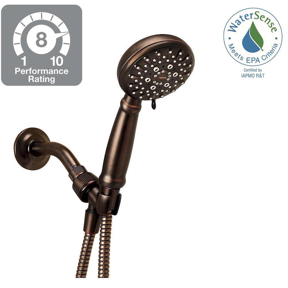MOEN Banbury 5-Spray Hand Shower in Mediterranean Bronze-23046BRB ...