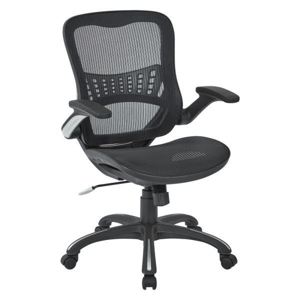 Office Star Products Black Mesh Seat And Back Managers Chair 69906 3 The Home Depot