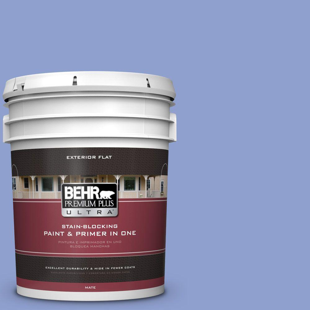 BEHR Premium Plus Ultra 5-gal. #600B-4 Pageant Song Flat Exterior Paint