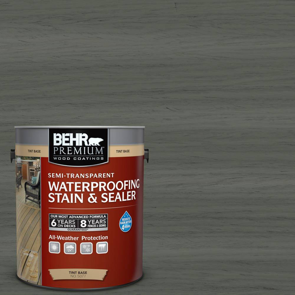 1 gal. #ST-131 Pewter Semi-Transparent Waterproofing Exterior Wood Stain and