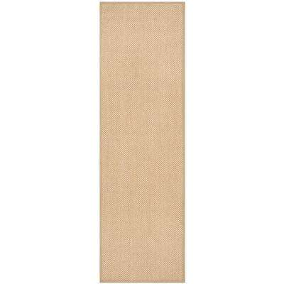 Natural Fiber Maize/Linen 3 ft. x 8 ft. Runner Rug