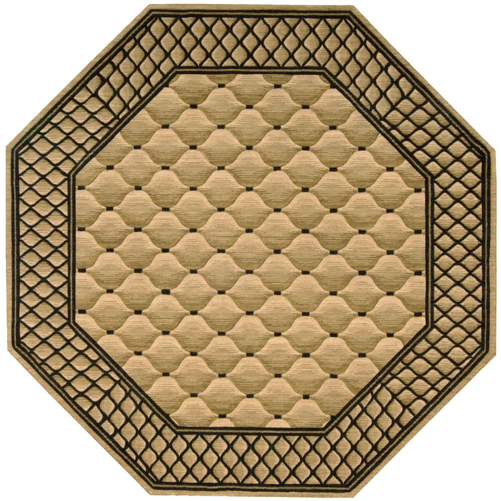 Nourison Vallencierre Beige 6 Ft Octagon Area Rug