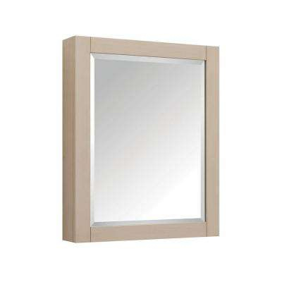 28 in. W x 36 in. H x 6-1/4 in. D Framed Surface-Mount Bathroom Medicine Cabinet in Taupe Glaze