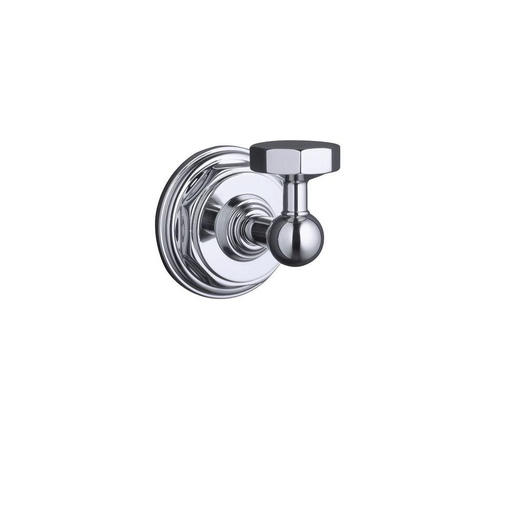 Pinstripe Single Robe Hook in Polished Chrome