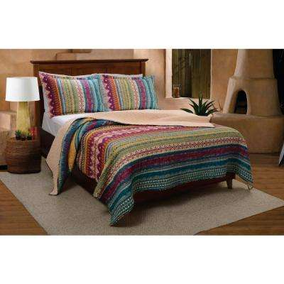 Southwest 3-Piece Multi Full and Queen Quilt Set