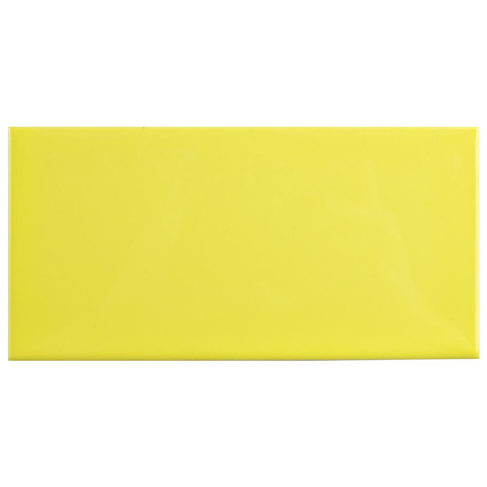 Merola Tile Park Slope Subway Canary Yellow 3 In X 6 Ceramic Wall