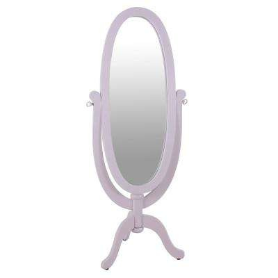 Caroline Cheval Oval Pink Floor Mirror
