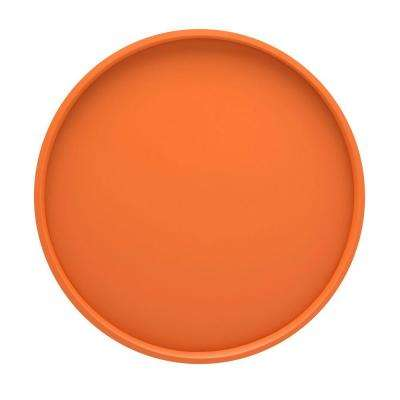 14 in. Round Serving Tray in Spicy Orange