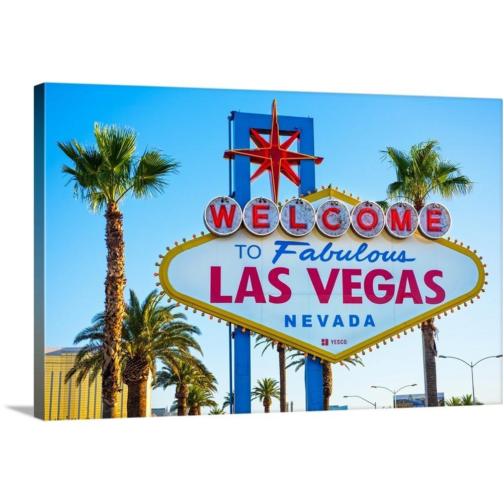 "Furniture Factory Outlet Las Vegas: GreatBigCanvas ""Welcome To Fabulous Las Vegas Nevada Sign"