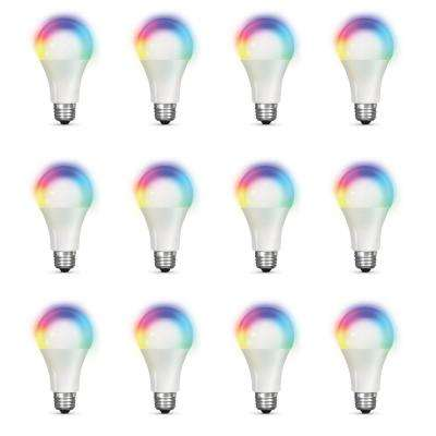 100-Watt Equivalent Daylight A19 Dimmable Color Changing Wi-Fi LED Smart Light Bulb (12-Pack)