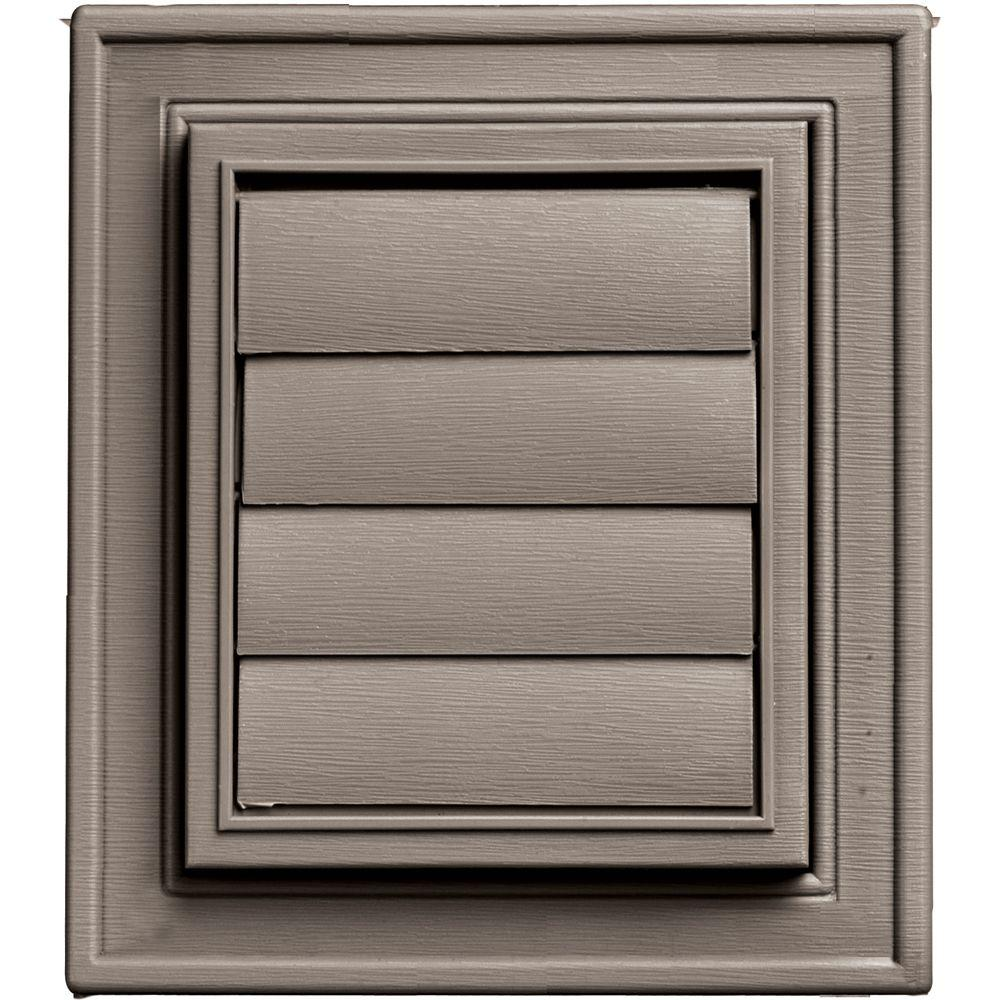 Builders Edge Square Exhaust Siding Vent #008-Clay