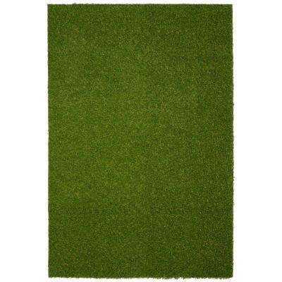 Realistic Artificial Grass Turf Green 6 ft. x 7 ft. 6 in. Area Rug
